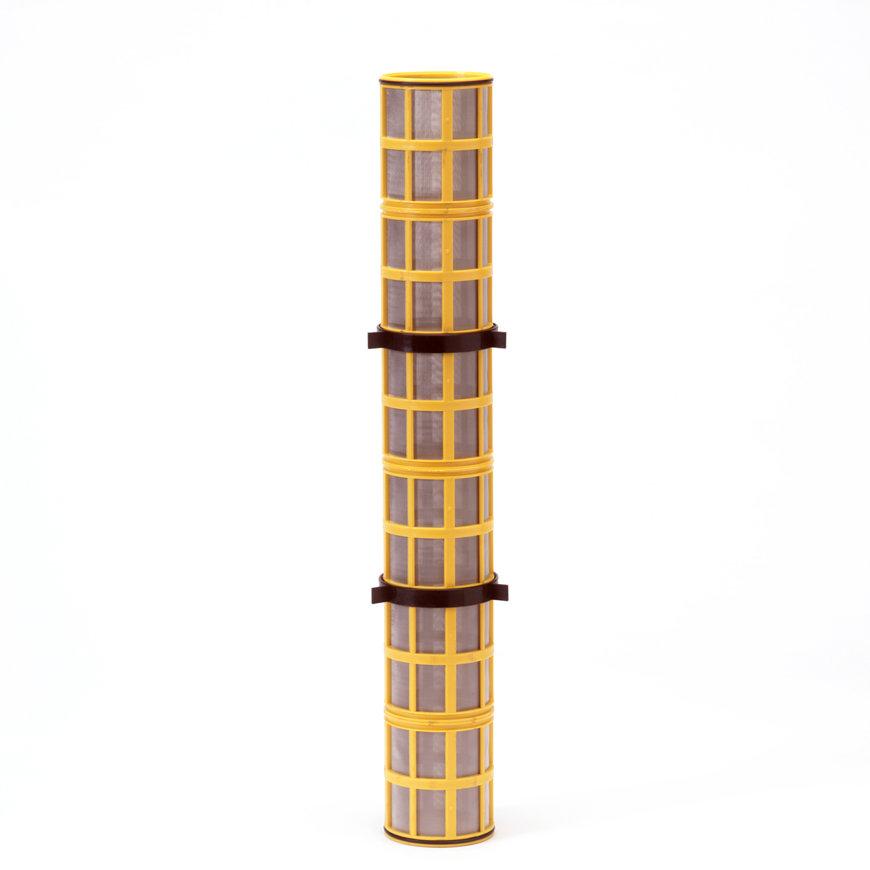 """Amiad cil.zeef tbv stalen filter 4"""", d x l = 100 x 750 mm, zeefperf. 0,10 mm, geel  default 870x870"""