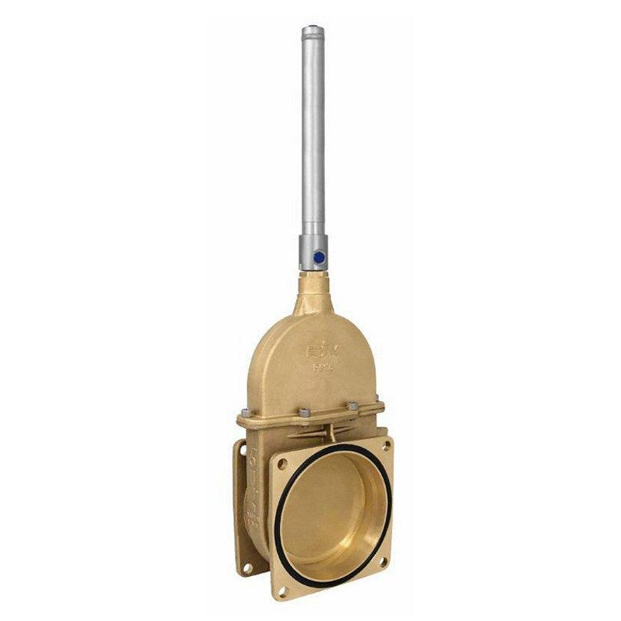 """RIV messing schuifafsluiter, type 17, 2x flens, incl. enkelwerkende hydraulische cilinder, 6""""  default 870x870"""