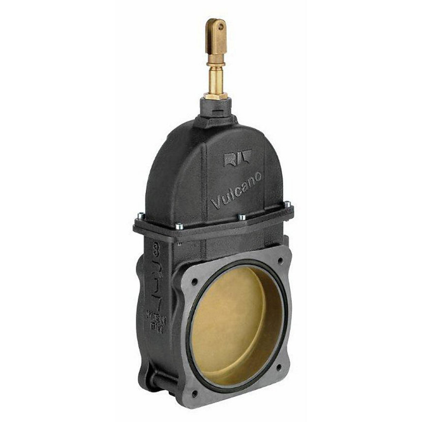 """RIV zware schuifafsluiter, type 90, 2x flens, met messing klep en rubber afdichting, 8""""  default 870x870"""