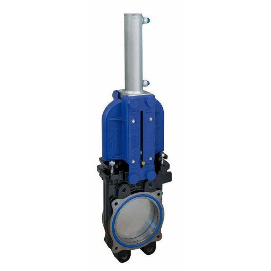 """RIV mesafsluiter, type 124, incl. dubbelwerkende hydraulische cilinder, 4""""  default 870x870"""