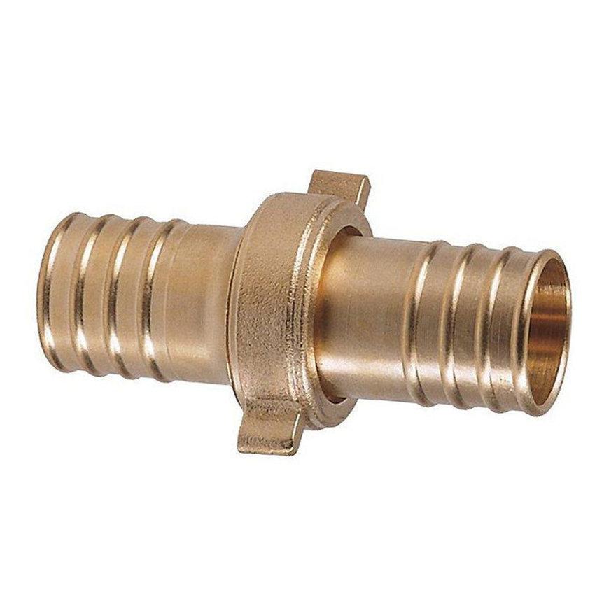 RIV messing standpijpkoppeling, type 3170, 2x slangtule, 25 mm