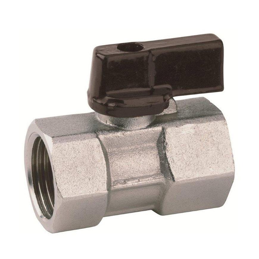 """RIV messing verchroomde mini-kogelafsluiter, type 4000, 2x bi.dr., gereduceerde doorlaat, ¼""""  default 870x870"""