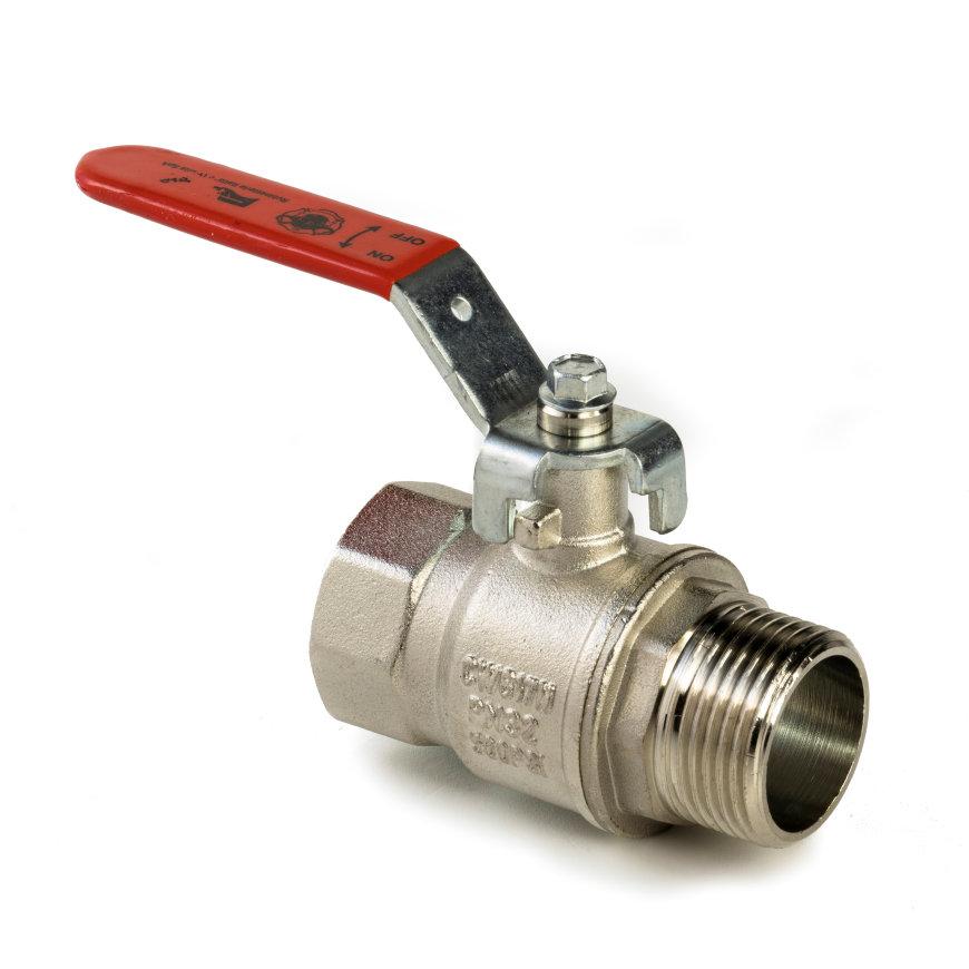 """RIV messing verchroomde kogelafsluiter, type 4331, bu.dr. x bi.dr., volle doorlaat, 1¼""""  default 870x870"""