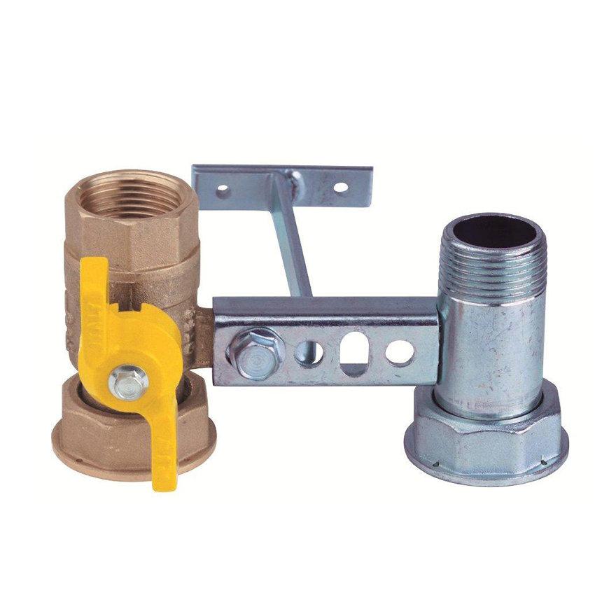"""RIV beugel voor gasmeter, type 7610, 2x bi.dr., standaard doorlaat, ¾"""" x 1¼"""" x ¾"""" x 1¼"""""""
