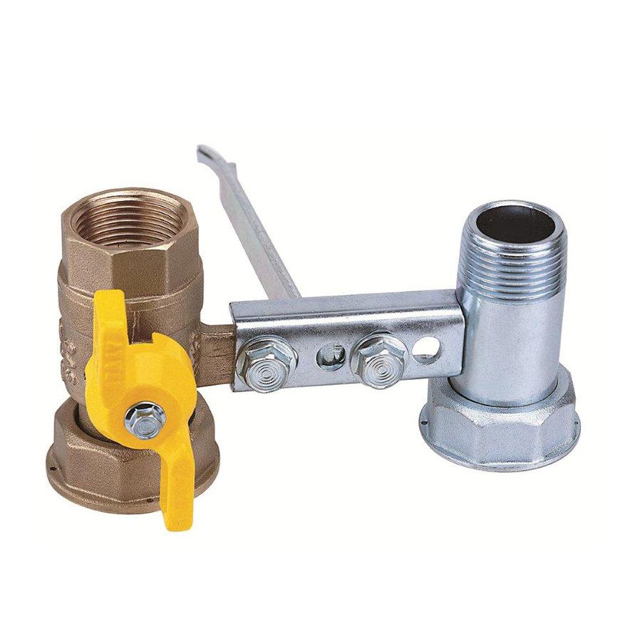 """RIV beugel voor gasmeter, type 7620, 2x bi.dr., standaard doorlaat, 1"""" x 1¼"""" (DN22) x 1"""" x 1¼"""""""