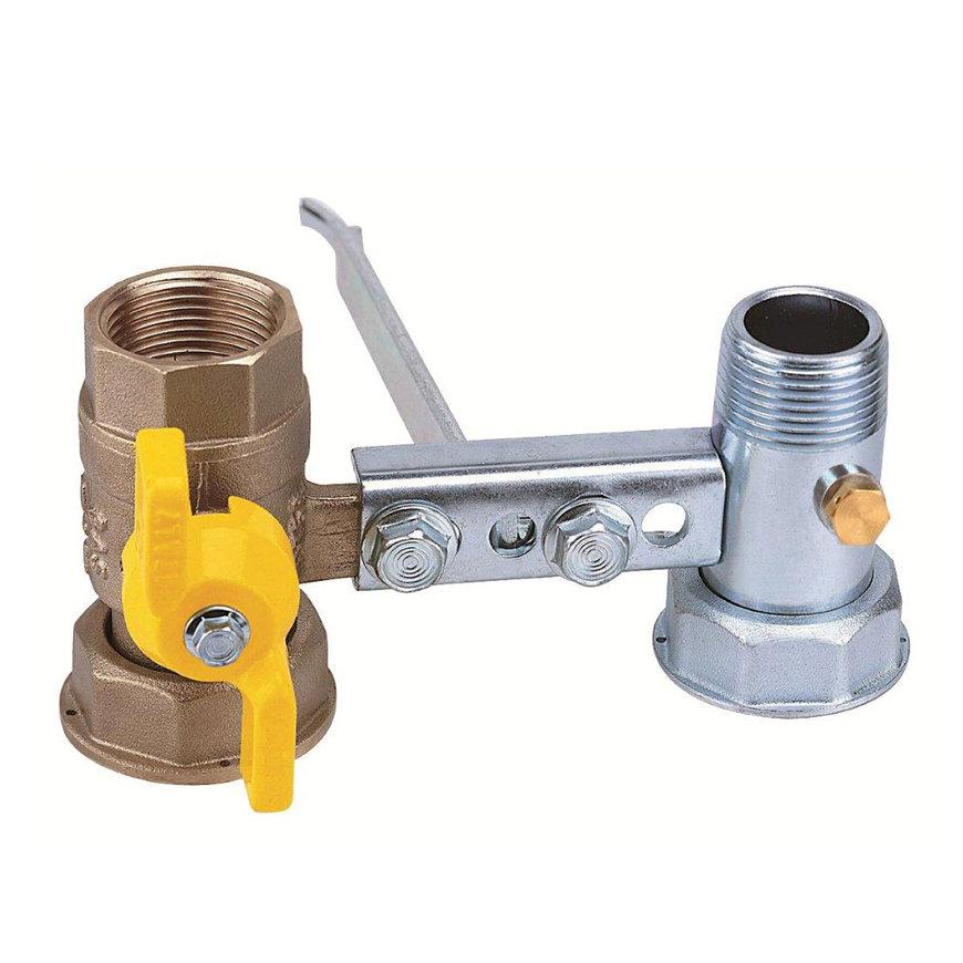 """RIV beugel voor gasmeter, type 7621, 2x bi.dr., standaard doorlaat, ¾"""" x 1¼"""" x 1"""" x 1¼""""  default 870x870"""