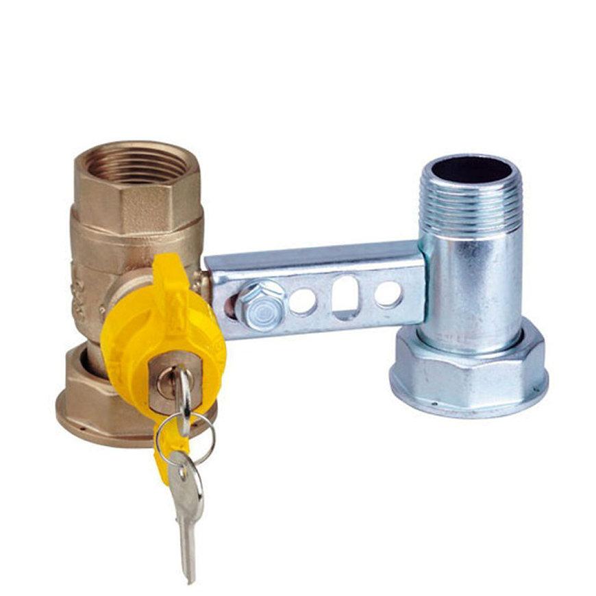 """RIV beugel voor gasmeter, type 7660, 2x bi.dr., standaard doorlaat, 1"""" x 1¼"""" (DN22) x 1"""" x 1¼""""  default 870x870"""