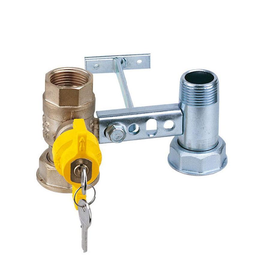"""RIV beugel voor gasmeter, type 7664, 2x bi.dr., standaard doorlaat, ¾"""" x 1¼"""" x 1"""" x 1¼"""""""