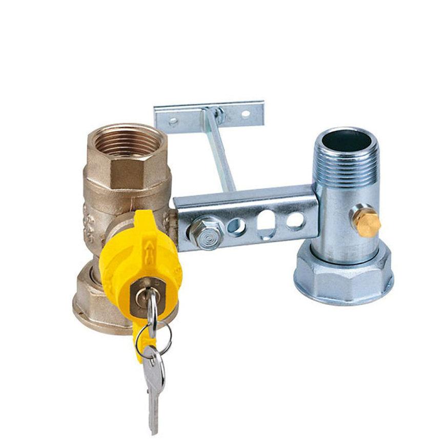 """RIV beugel voor gasmeter, type 7665, 2x bi.dr., standaard doorlaat, ¾"""" x 1¼"""" x 1"""" x 1¼"""""""