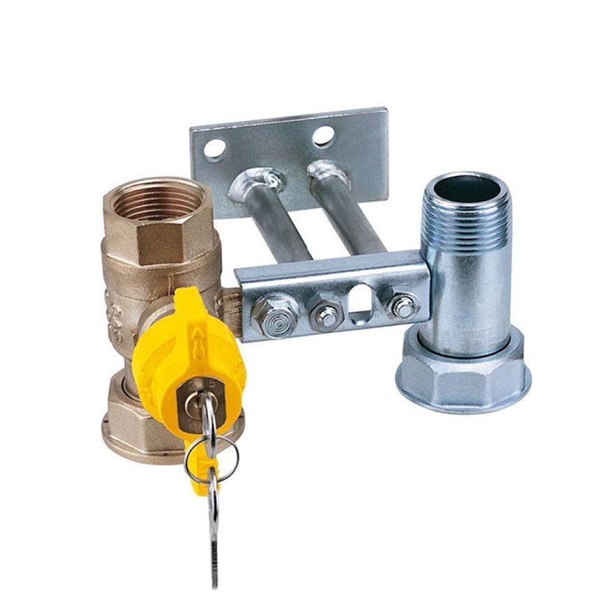 """RIV beugel voor gasmeter, type 7684, 2x bi.dr., standaard doorlaat, 1"""" x 1¼"""" (DN22) x 1"""" x 1¼"""""""