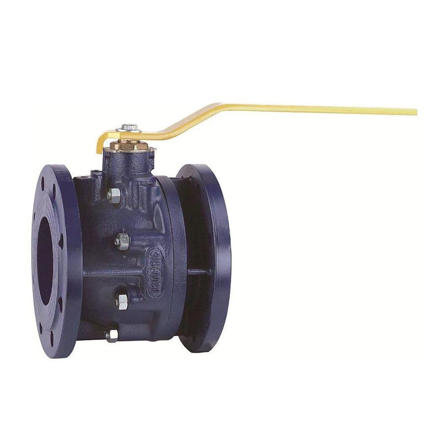 RIV gietijzeren kogelafsluiter, type 7350, 2x flens, volle doorlaat, 125 mm  default 870x870