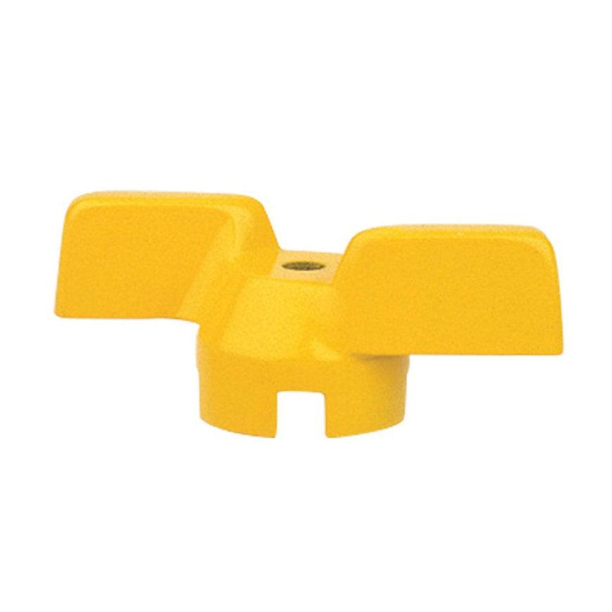 """RIV vlindergreep met aluminium afdichting, geel, type 9031, ½"""""""