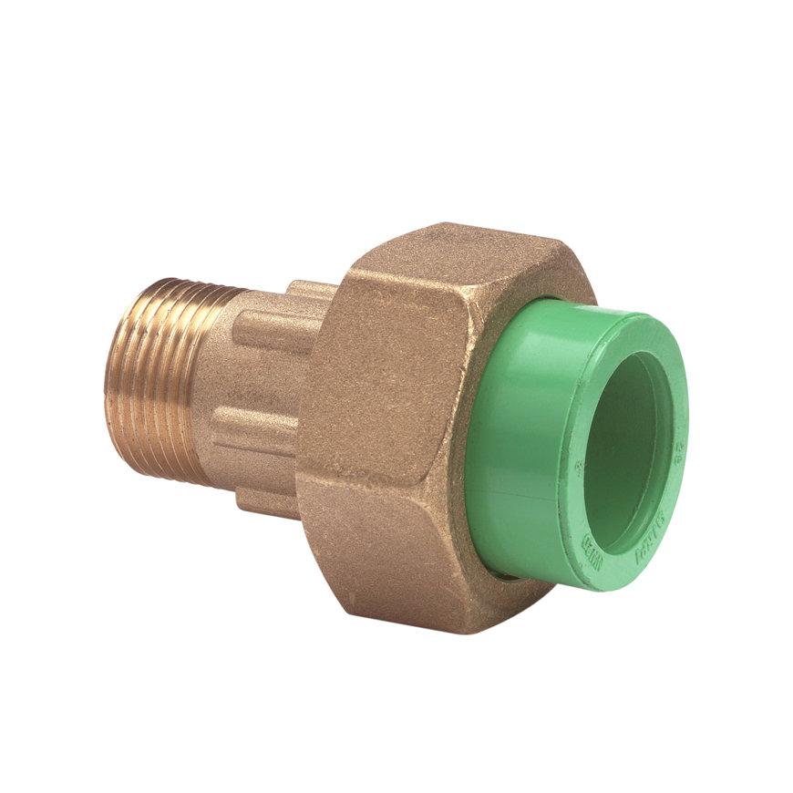 """Kryoclim 3-delige koppeling, hpf/messing, inwendig lijm x buitendraad, 25 mm x ¾""""  default 870x870"""