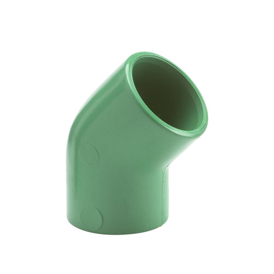 Kryoclim knie 45°, hpf, 2x inwendig lijm, 25 mm