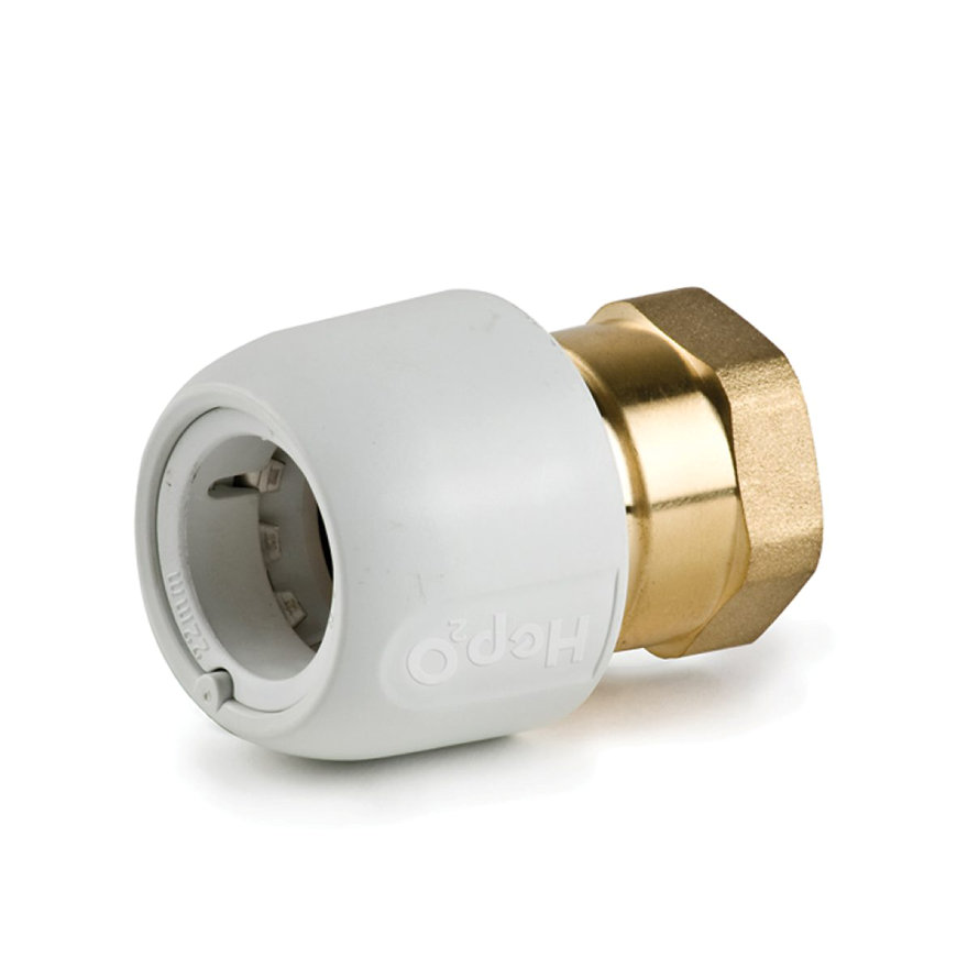 "Hep2O pb/messing schroefkoppeling, steek x binnendraad, 15 mm x ½"""