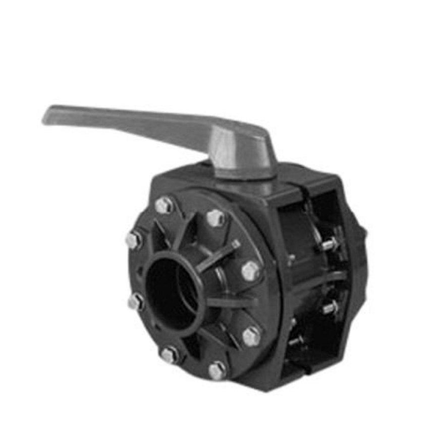 System'O cpvc kogelkraan, met cpvc lijmsokken, 2x inwendig lijm/2x wartel, 75 mm