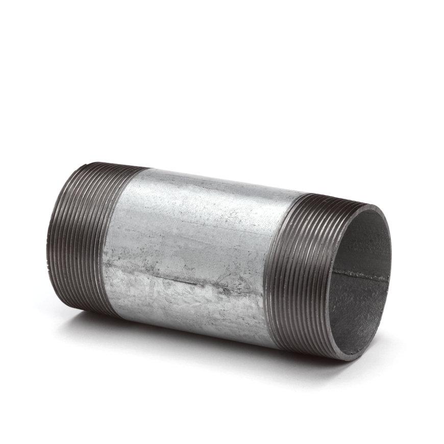 """Gegalv. pijpnippel, 2½"""", nr. 23, 2x buitendraad, l = 100 mm"""