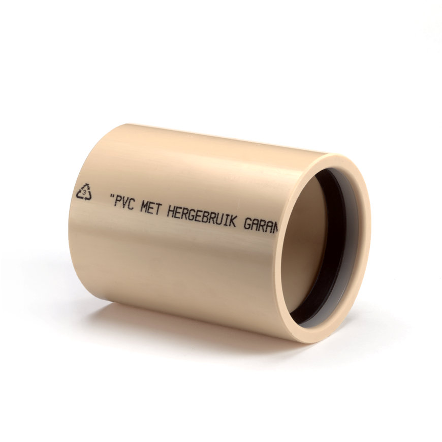 Pvc overschuifmof, 2x manchet, 10 bar, 75 mm  default 870x870