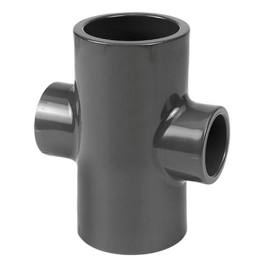 VDL PVC-Kreuzstück 90°, 16bar, TypB, 4x Innenverklebung, 50x 32mm
