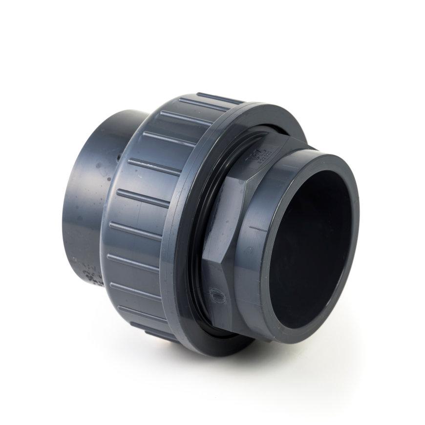 VDL pvc 3-delige koppeling, 2x inwendig lijm, 10 bar, 90 mm, type A
