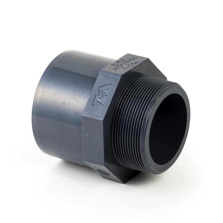 """VDL pvc draadeind, inwendig lijm x buitendraad, 16 bar, 110 mm x 3""""  default 870x870"""