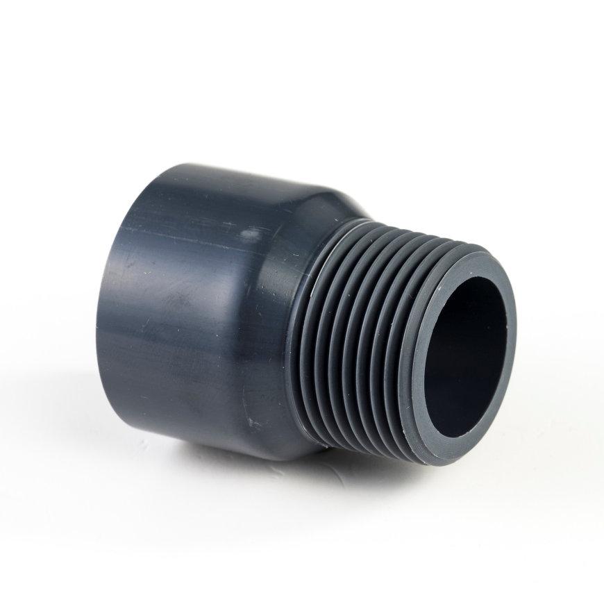 """VDL pvc draadeind, handvorm, inwendig lijm x buitendraad, 16 bar, type A, 75 mm x 2½"""""""