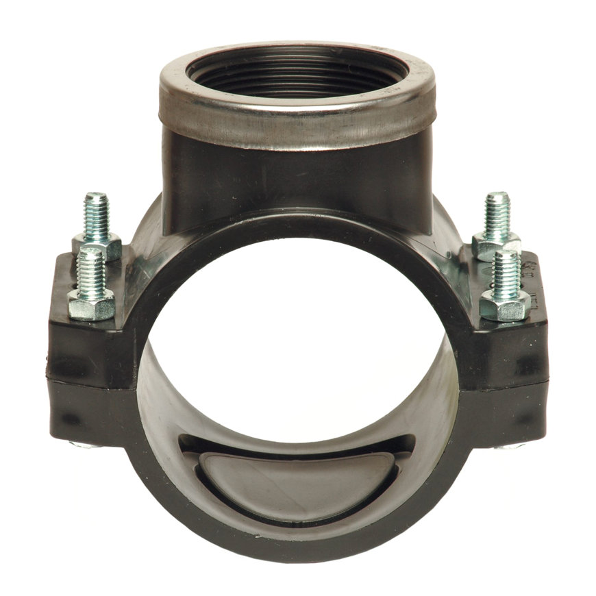 """Unidelta pp aanboorzadel, 1x bi.dr., verstevigingsring, zwart, incl. bouten en moeren, 160 mm x 2½""""  default 870x870"""