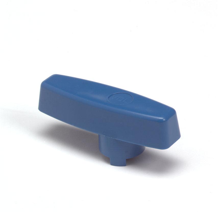 VDL pvc handgreep voor kogelkraan, blauw, 63 mm  default 870x870