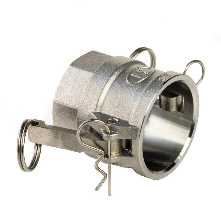 """Camlock rvs 316 gegoten, V-deel met binnendraad, type D, 15 mm x ½""""  default 870x870"""