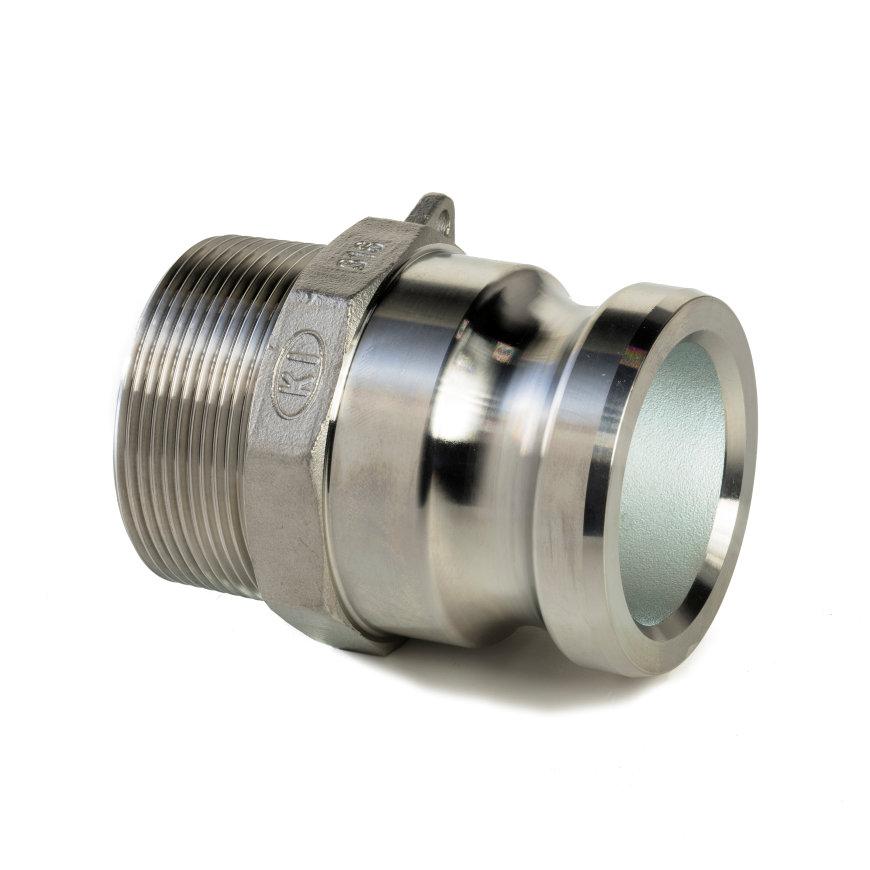 """Camlock rvs 316 gegoten, M-deel met buitendraad, type F, 50 mm x 2""""  default 870x870"""