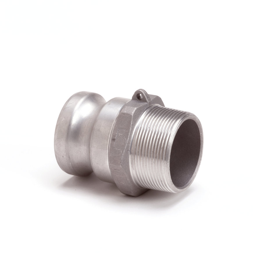 """Camlock M-deel met buitendraad, aluminium, type F, 125 mm x 5""""  default 870x870"""