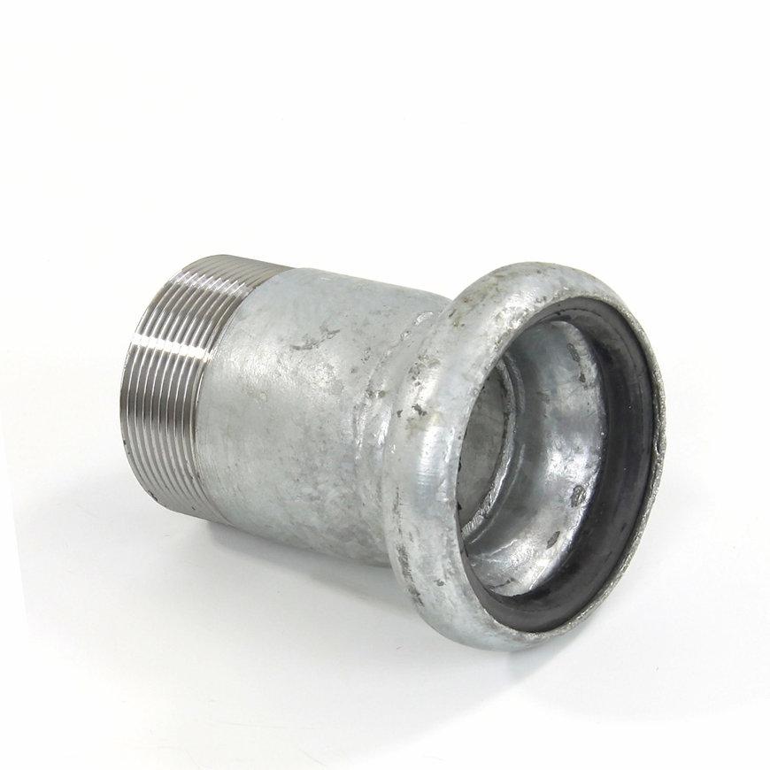 """Dallai M-deel x buitendraad, type B, verzinkt, 50 mm x 1½"""""""
