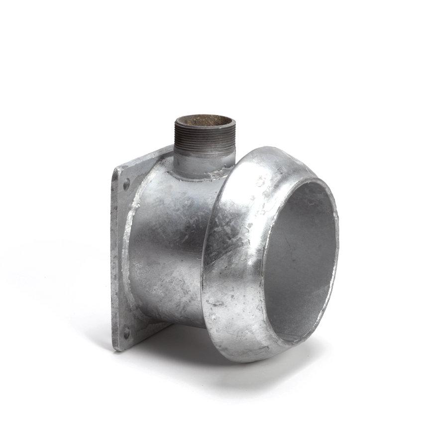 "Dallai V-Teil+ Rohr+ Auslaufx Vierkantflansch, ModellC, 159mmx 2""x 6"""