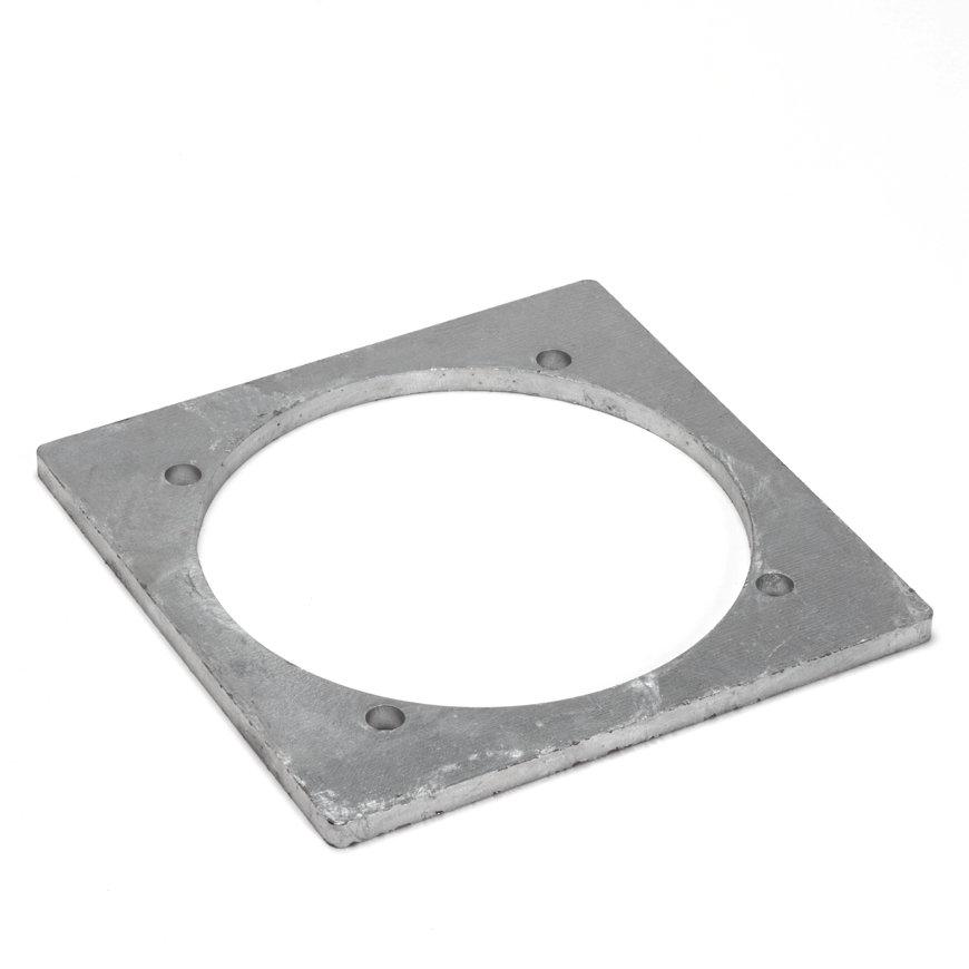 Dallai Vierkantflansch für PVC-Bundbuchse, ModellC, Stahl, 160mm
