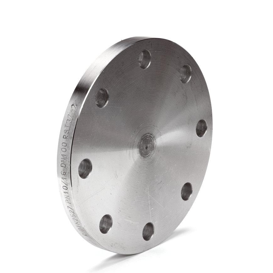 Stalen blindflens, ND16, DN100, steekmaat 180 mm, 220 x 20 mm