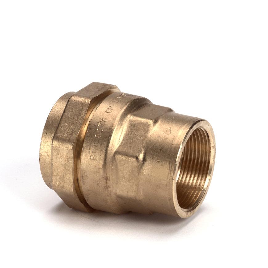 "Isiflo messing schroefkoppeling, Kiwa/GASTEC QA, klem x binnendraad, 40 mm x 1¼""  default 870x870"
