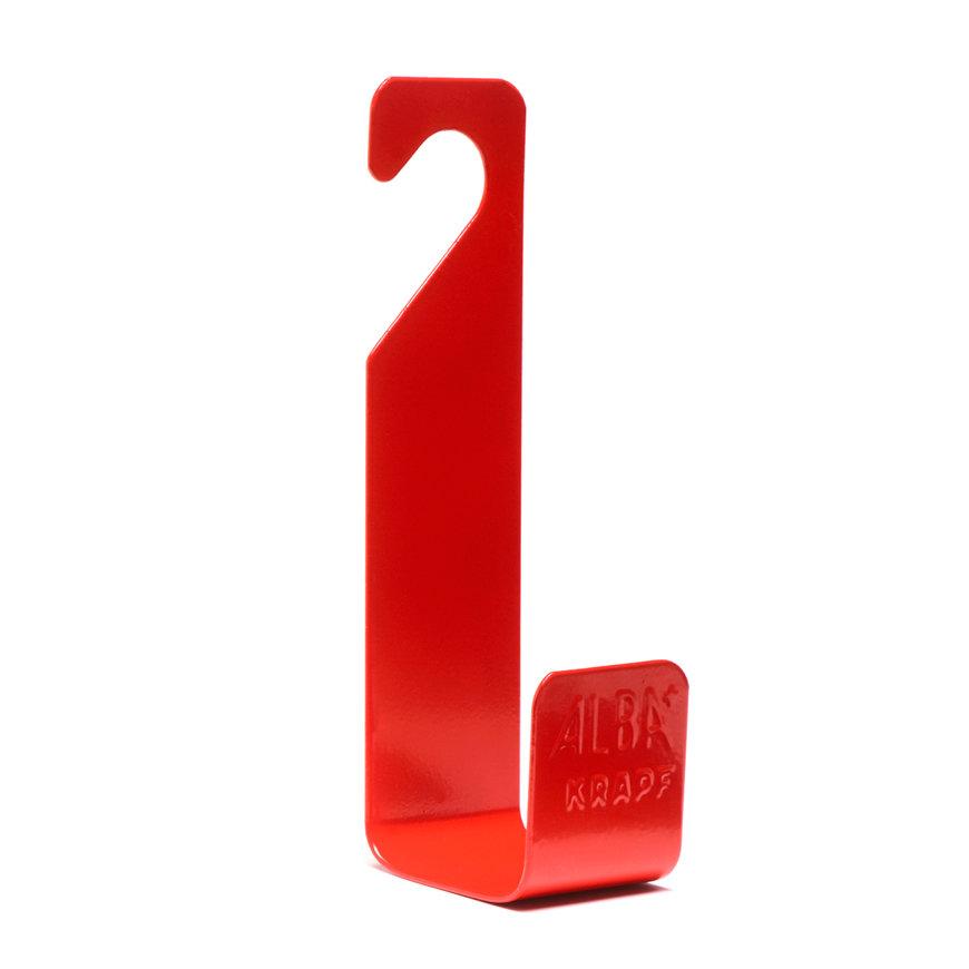 Alba-Krapf wandslanghouder, type Boy, staal, rood  default 870x870