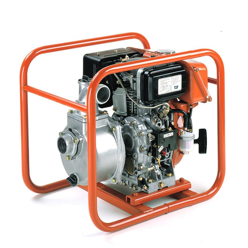 Koshin Robin DY23 zelfaanzuigende diesel motorpomp, type SE-80XD, schoonwater