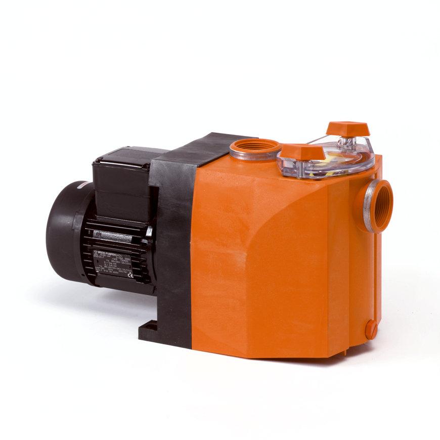 Speck kunststof centrifugaalpomp, t.b.v. weiproducten en kalvermelk, type Badu 40/10, 400 V, 0,75 kW