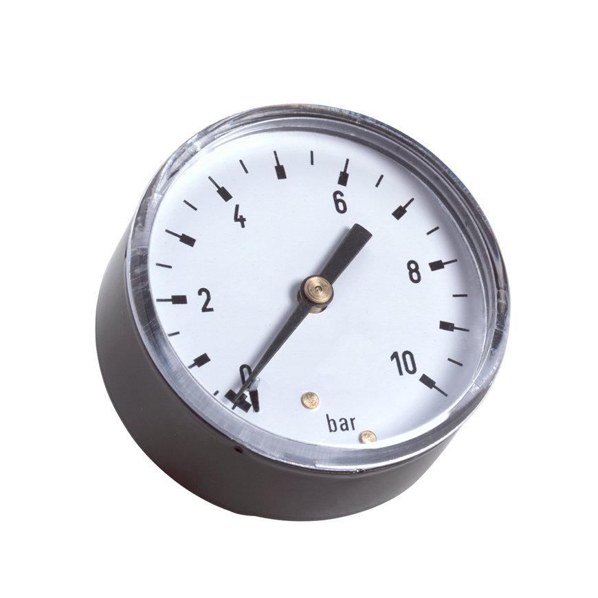 Buisveermanometer met achteraansluiting (droge uitvoering), 0 - 4 bar