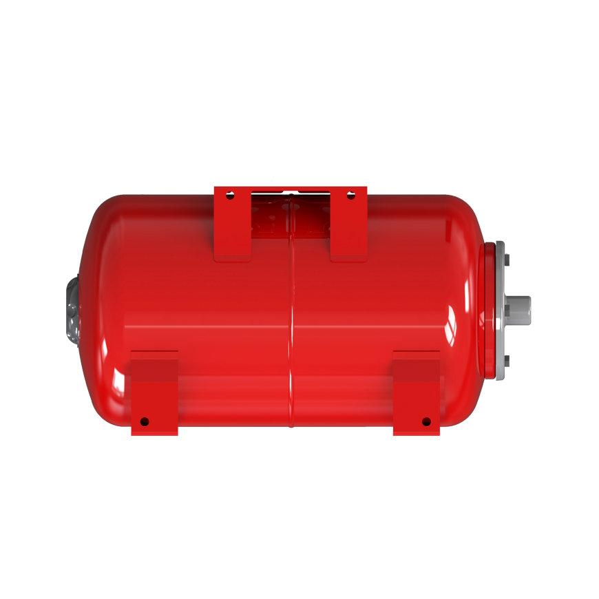 """Varem Druckausgleichsbehälter, Typ Intervarem, Karbonstahl-Flansch, Vordruck 2bar, rot, 1"""", 20l"""