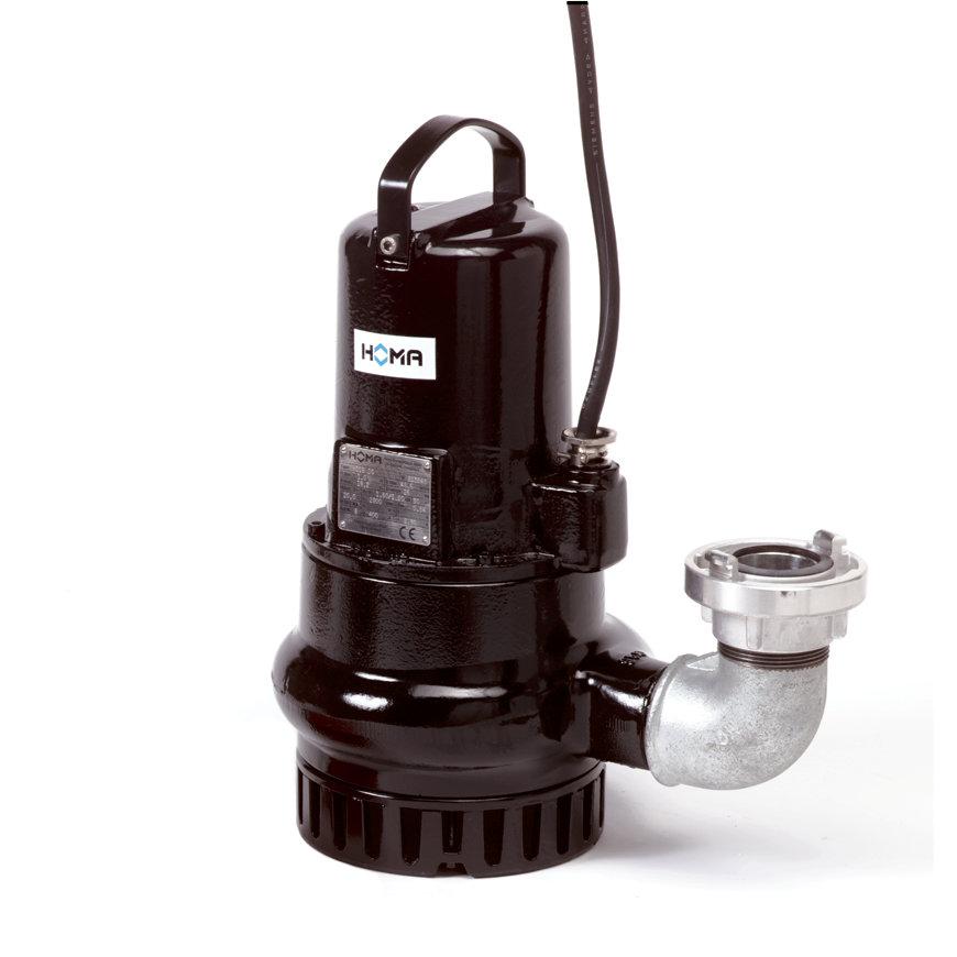 Homa dompelpomp voor schoon- en vuilwater, slijtvast, Storz, H 119 WG, gietijzer, 230 V  default 870x870