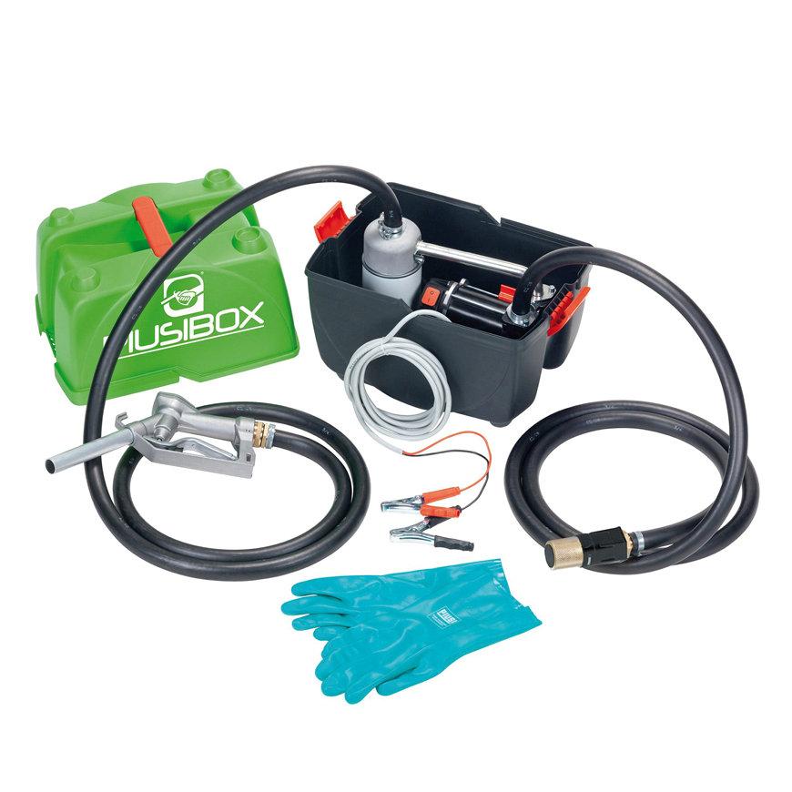 Piusiboxi Pro brandstofpomp set, 12 V, incl. o.a. pomp, 4 m kabel, pistool, 6 m slang, voor diesel