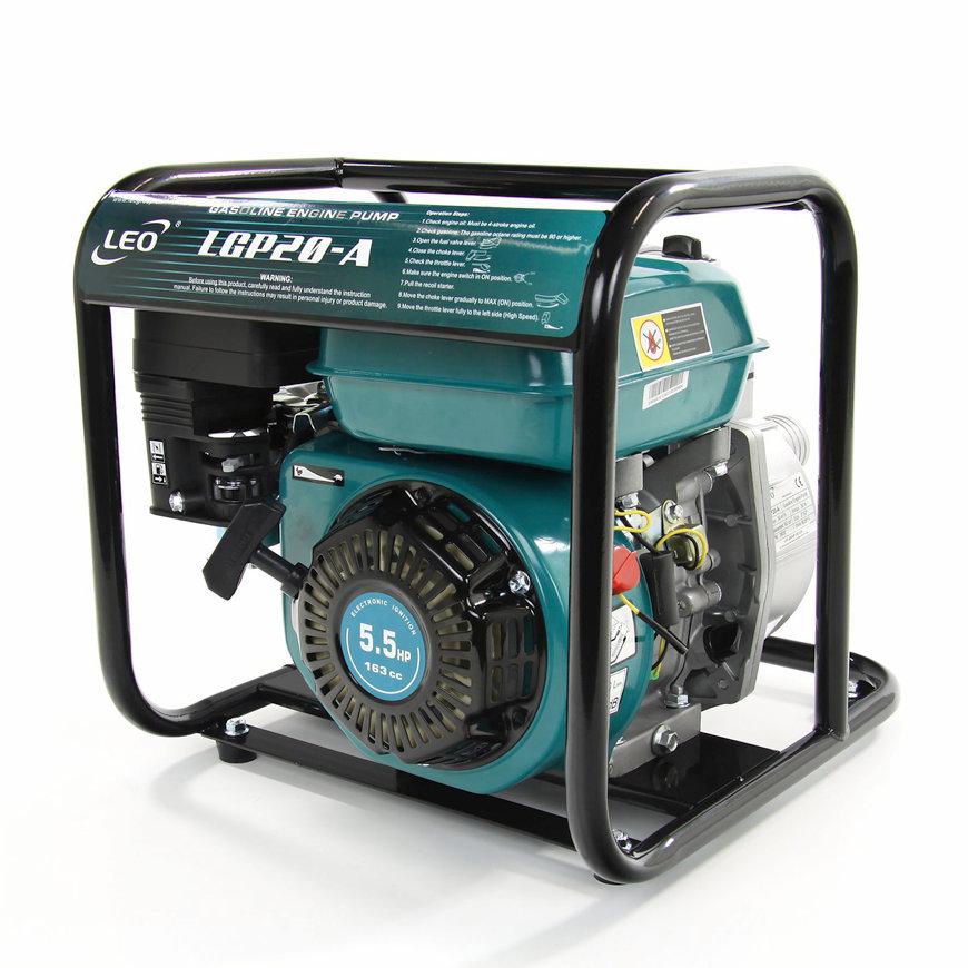 LEO zelfaanzuigende benzine motorpomp, type LGP20A, schoonwater  default 870x870