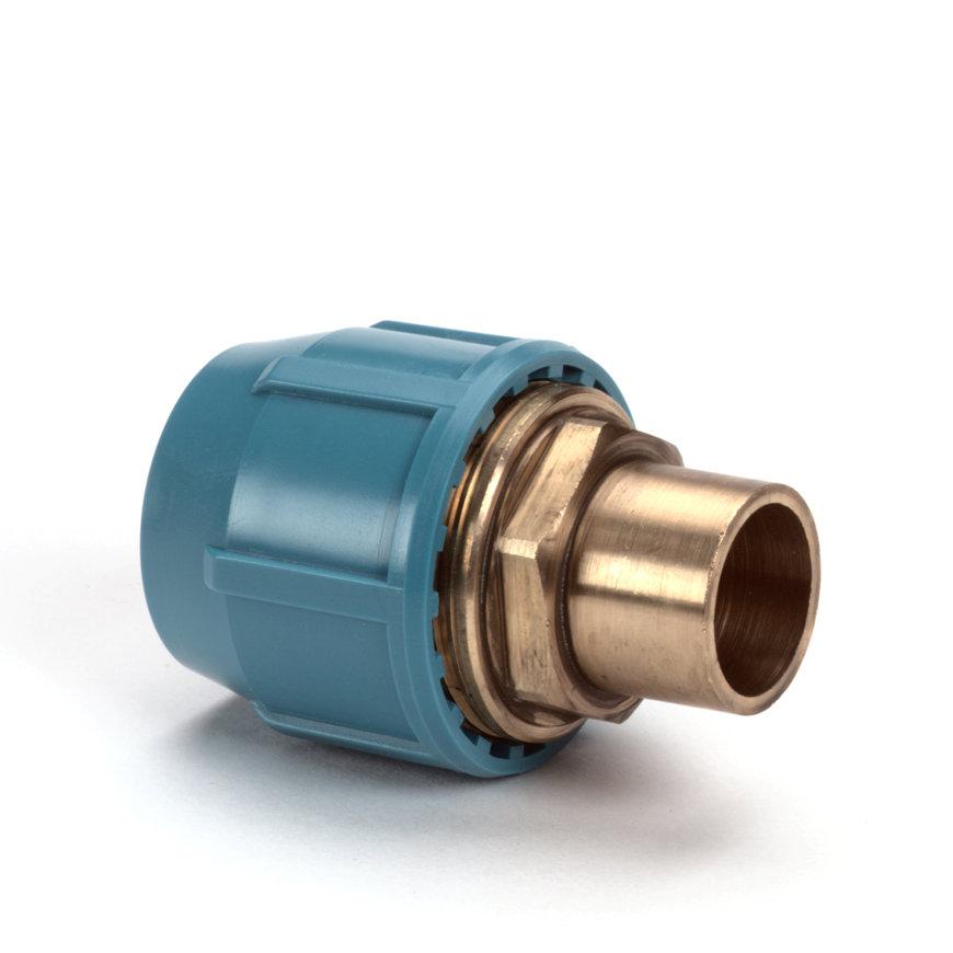 Unifit soldeerkoppeling, klem x uitwendig capillair, 10 bar, 16 x 15 mm  default 870x870
