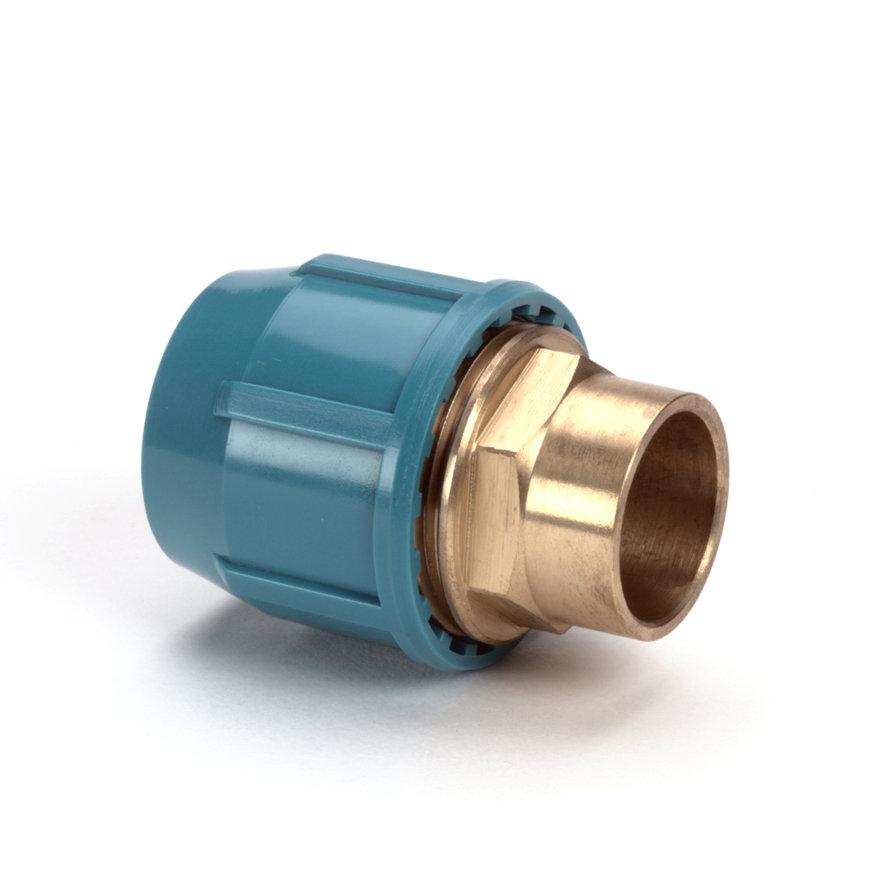 Unifit soldeerkoppeling, klem x inwendig capillair, 10 bar, 25 x 22 mm  default 870x870