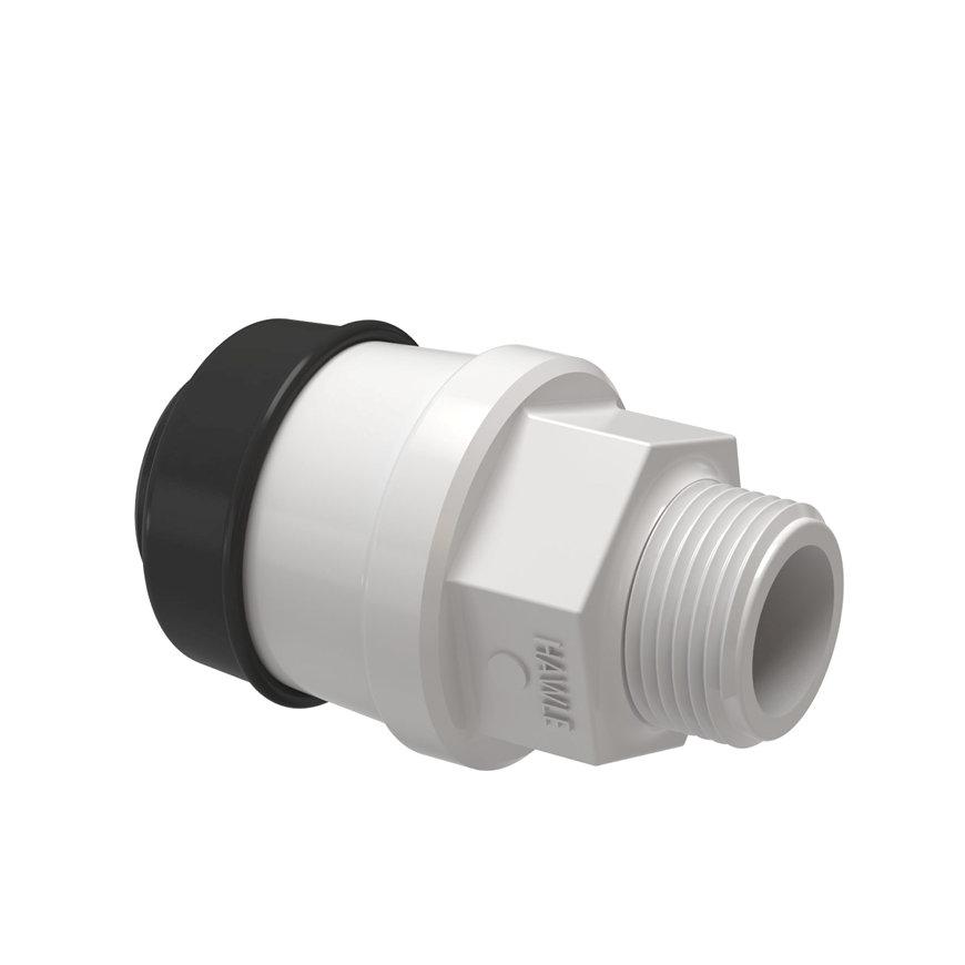 """Hawle draadkoppeling, GASTEC QA, steek x buitendraad, 20 mm x ½""""  default 870x870"""