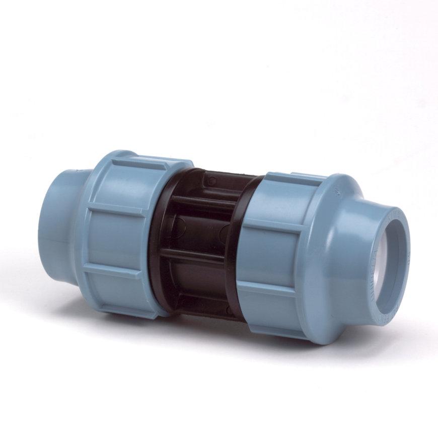 Unidelta koppeling, Kiwa, 16 bar, 2x klem, 25 mm