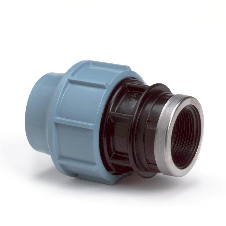 "Unidelta schroefkoppeling, Kiwa, 16 bar, klem x binnendraad, 110 mm x 4"""