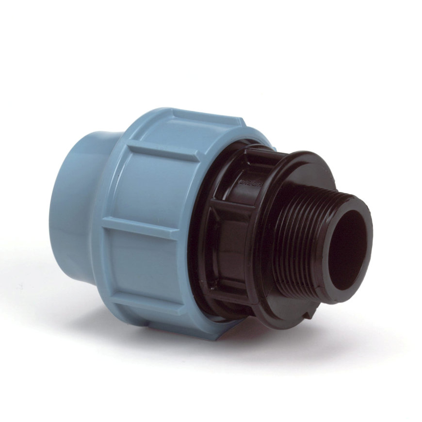 "Unidelta draadkoppeling, Kiwa, 16 bar, klem x buitendraad, 32 mm x ½""  default 870x870"